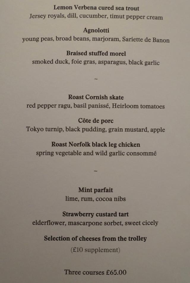 Restaurant Gordon Ramsay London Lunch Menu