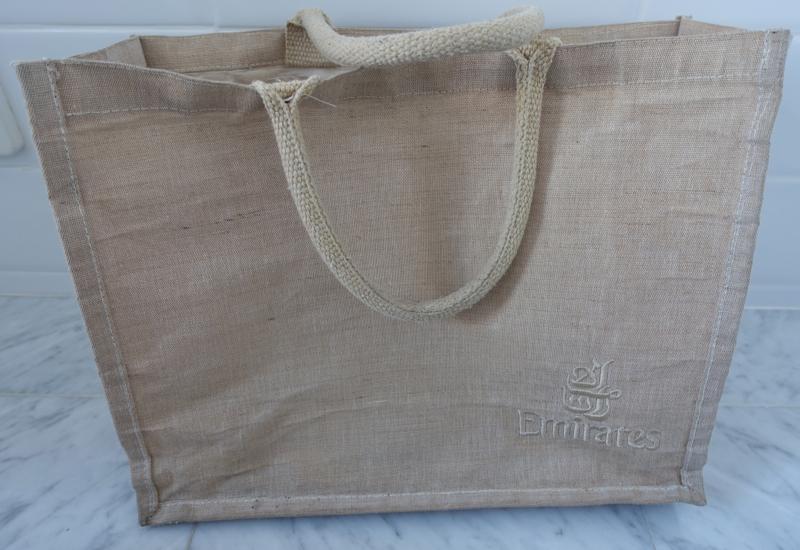 My Favorite Airline First Class Mementos: Emirates First Class Beach Bag