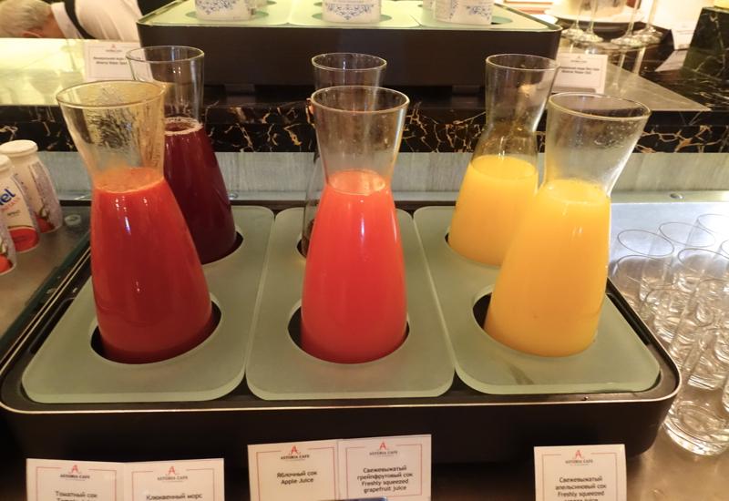 Fresh Squeezed Orange Juice, Cafe Astoria Buffet Breakfast Review