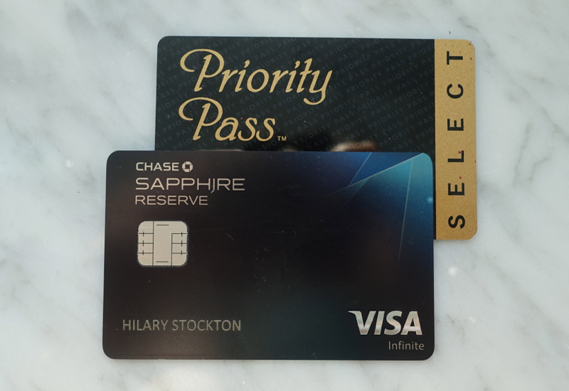 Chase Sapphire Reserve Priority Pass Select Lounge Access