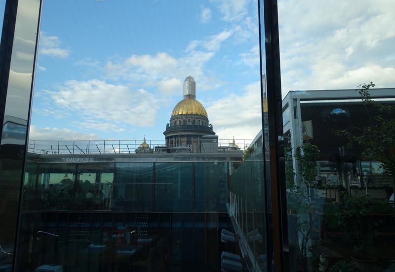 View from Mansarda Restaurant Entrance on 6th Floor