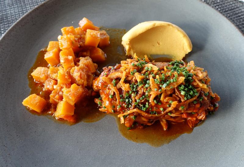 Spiced Rabbit with Pumpkin, Mansarda Review, St. Petersburg