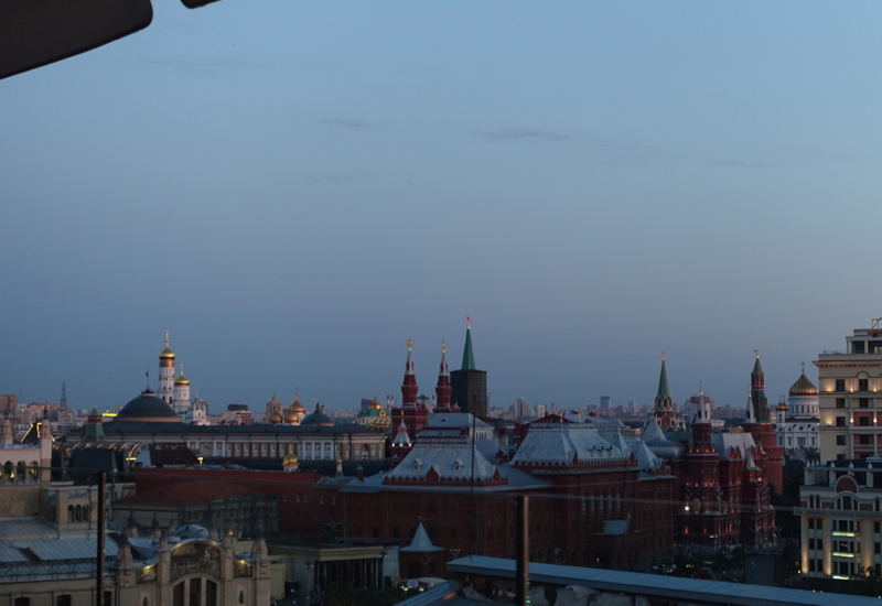 View of Red Square from Park Hyatt Moscow Conservatory Lounge Terrace