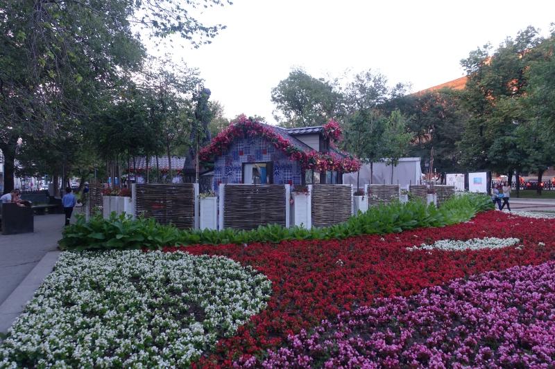 Summer in Moscow: Jam Festival Flowers Along Tsvetnoy Boulevard