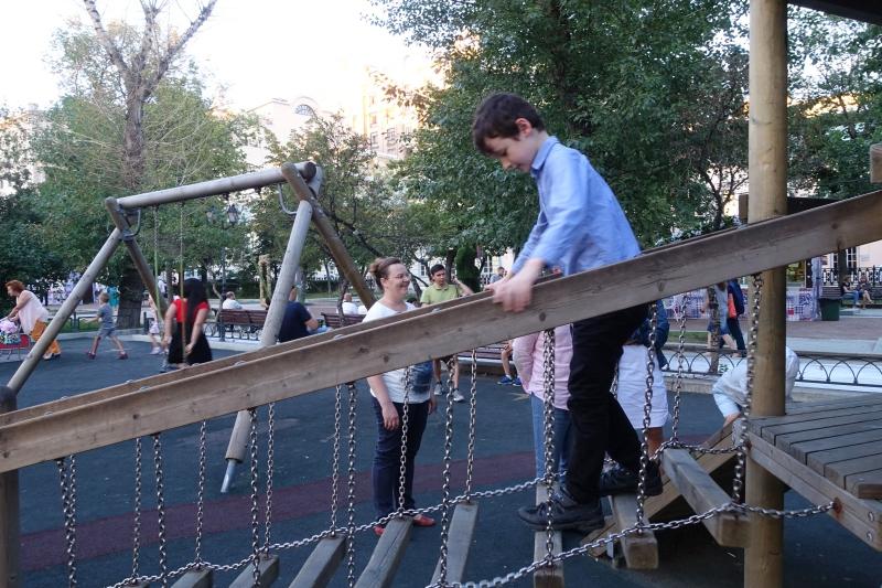 Tverskoy Boulevard Playground, Moscow Russia