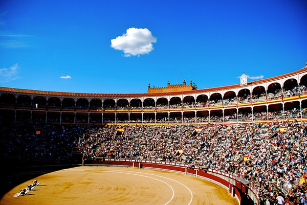 Madrid bull fighting stadium
