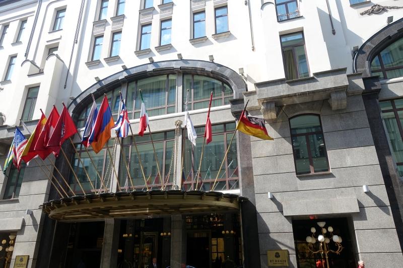 St. Regis Moscow Nikolskaya Entrance on Malyy Cherkasskiy Lane