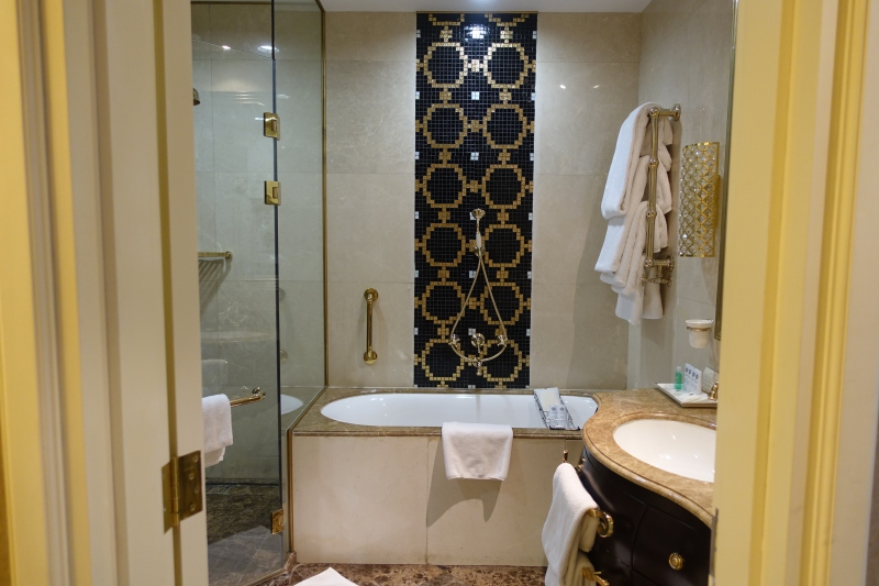 Superior Room Bathroom, St. Regis Moscow Review