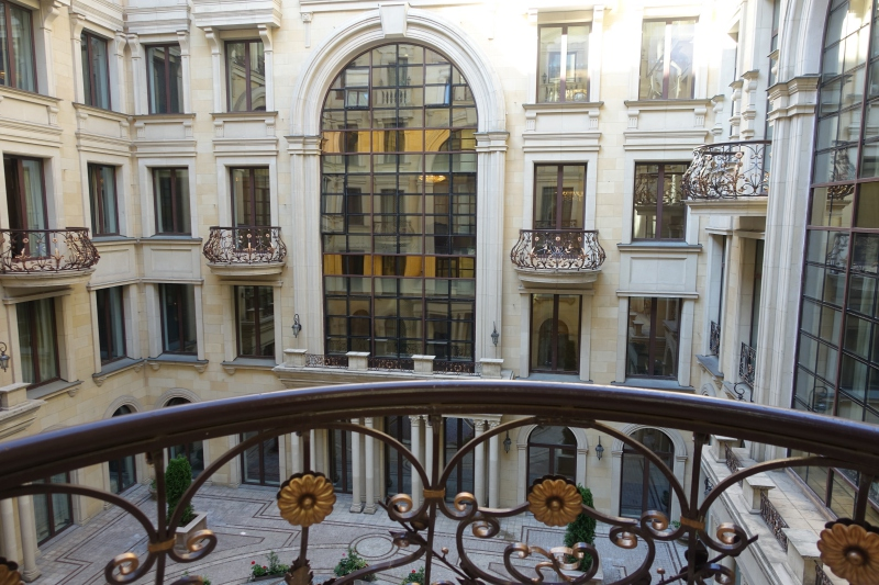 Juliet Balcony and Courtyard View, St. Regis Moscow Superior Room Review