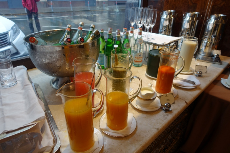 Fresh Squeezed Juices, St. Regis Moscow Breakfast Review
