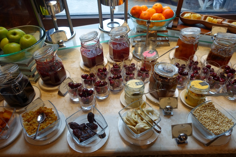 Cherries and Fruit, St. Regis Moscow Breakfast Review