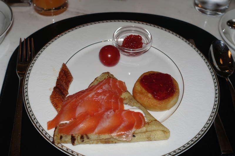 Blini with Smoked Salmon and Syrniki, St. Regis Moscow Breakfast Review