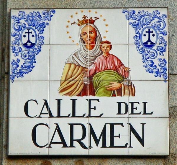 Beautiful Street Sign, Madrid Spain