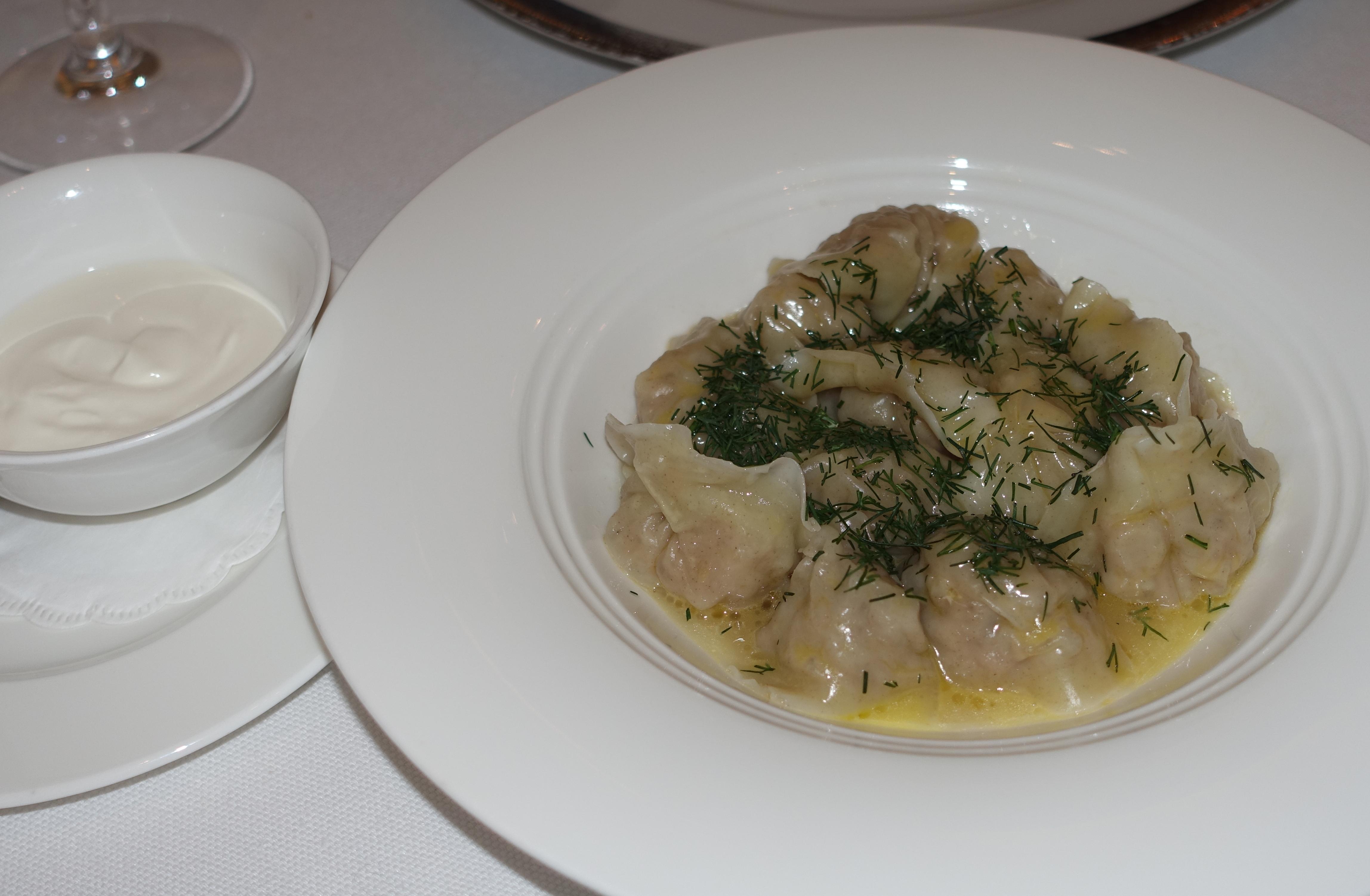 Beef Pelmeni, BOLSHOI Restaurant Review, Moscow