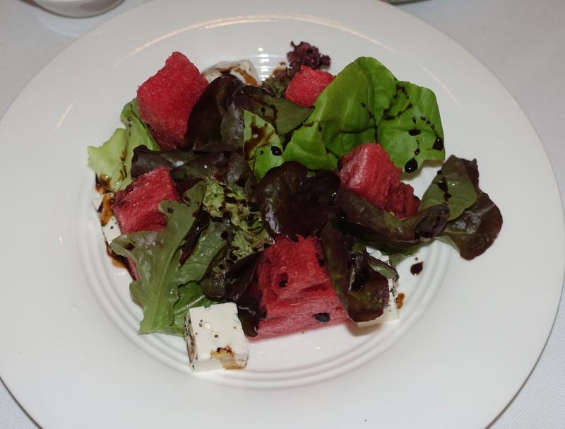 Watermelon Salad with Brinza Cheese, BOLSHOI Restaurant Review
