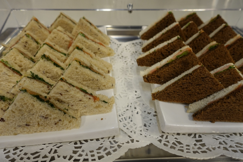Sandwiches, DME Airport Business Class Lounge Review