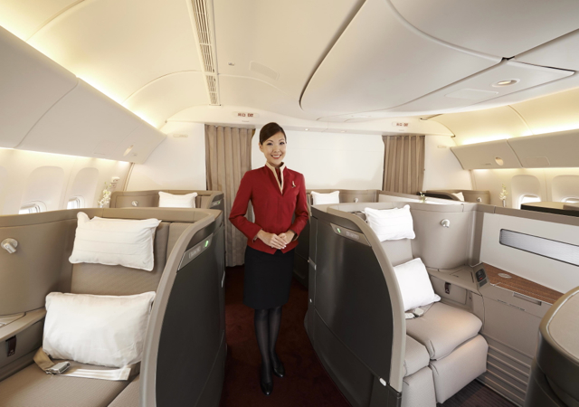 Cathay Pacific First Class Cabin: Just 6 Seats