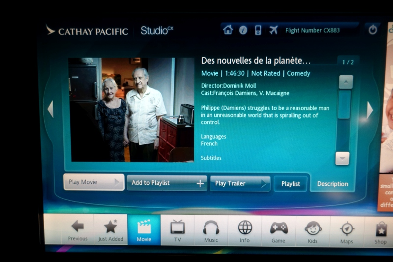 Cathay Pacific Studio CX In-Flight Entertainment Review