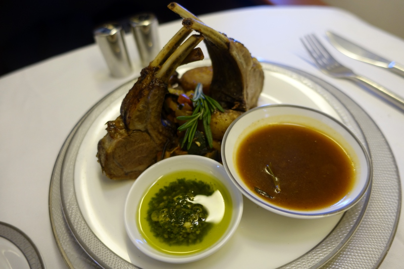 Lamb Rack, Singapore First Class Review, 777