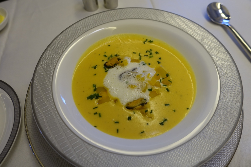 Pumpkin Veloute Soup, Singapore First Class Review