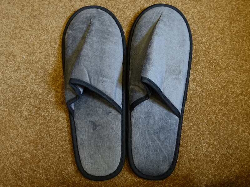 Slippers, Singapore Airlines First Class Review