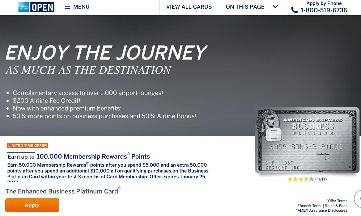 100K AMEX Business Platinum Bonus Offer Worth It?