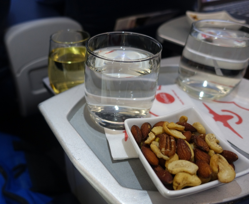 Pre-Dinner Drink and Mixed Nuts, American Airlines Domestic First Class Review