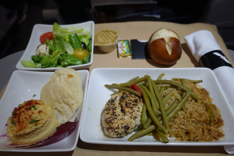 Review: American Airlines Old A321 First Class Meal, Dinner