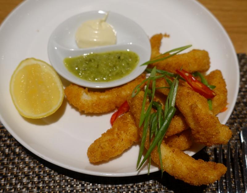 Salt & Pepper Squid, Qantas First Class Lounge LAX Review