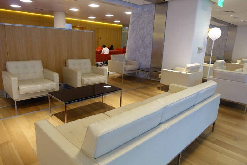 White Sofa, Qantas First Class Lounge LAX Review