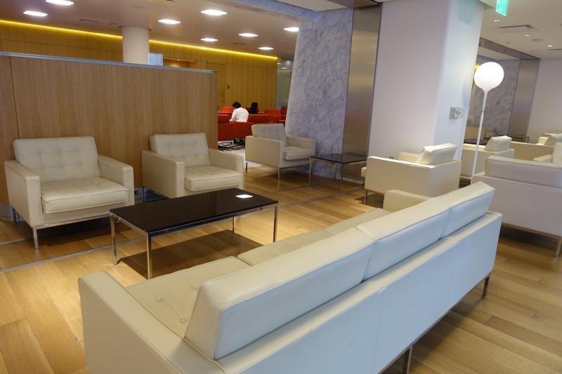 White Sofa, Qantas First Class Lounge LAX Review