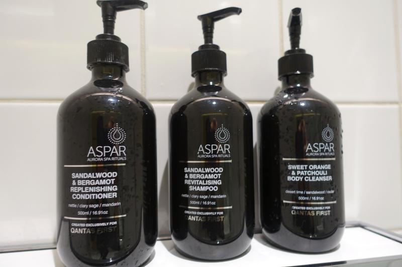 Aspar Bath Products, Qantas First Class Lounge LAX Review