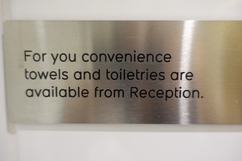 Sign in Qantas First Class Lounge LAX Shower Room