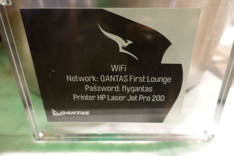 WiFi in Qantas First Class Lounge LAX, Review