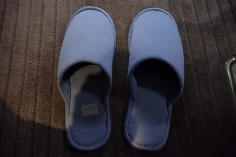 Slippers, Cathay Pacific First Class Review