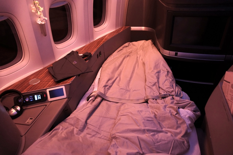 Cathay Pacific Review-First Class Bed