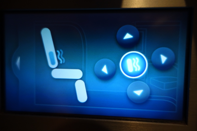 Seat Massage Function, Cathay Pacific First Class Review