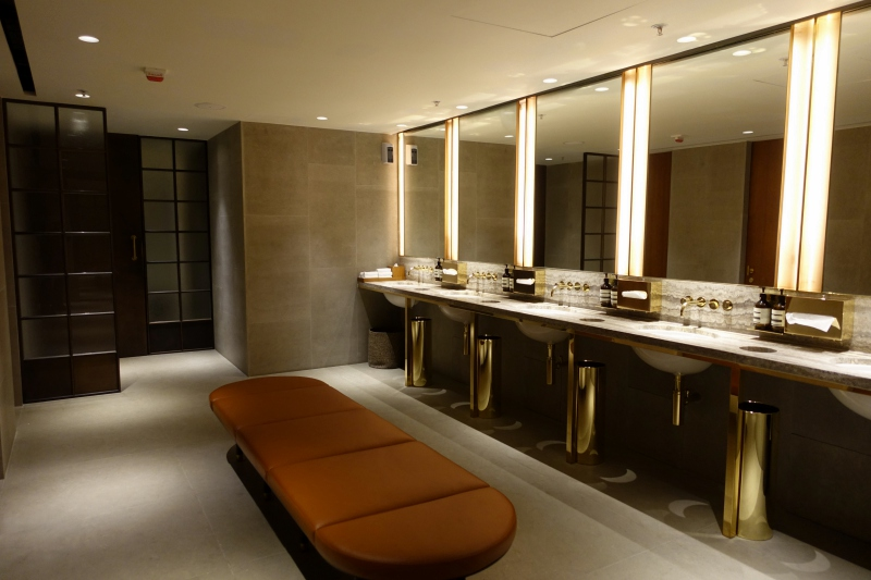 Women's Bathroom, Cathay Pacific The Pier First Class Lounge Review HKG