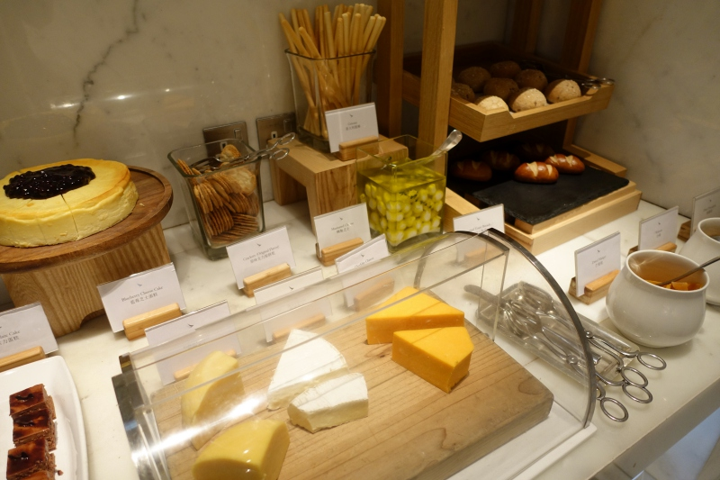 Cheeses, Cathay The Wing First Class Lounge Dining Review