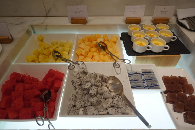 Fresh Fruit, Cathay The Wing First Class Lounge Dining Review