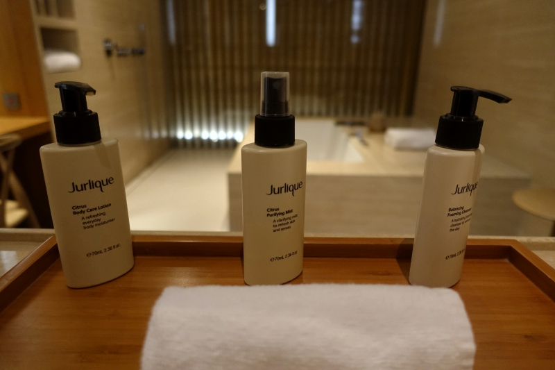 Jurlique Bath Products, Cabana, Cathay The Wing First Class Lounge Review