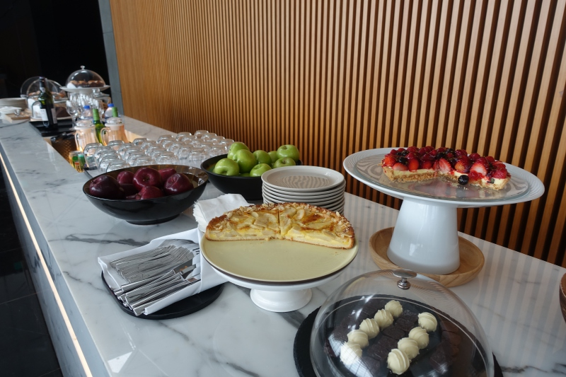 Self-Serve Buffet, Cathay Pacific The Wing First Class Lounge Review