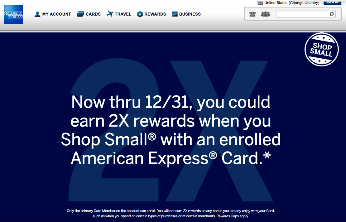 2X SPG and AMEX Membership Rewards Points at Small Businesses
