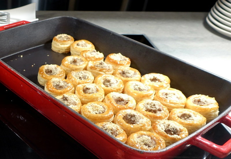 Mushroom Puff Pastry Tarts, The Pier Business Class Lounge Review, HKG