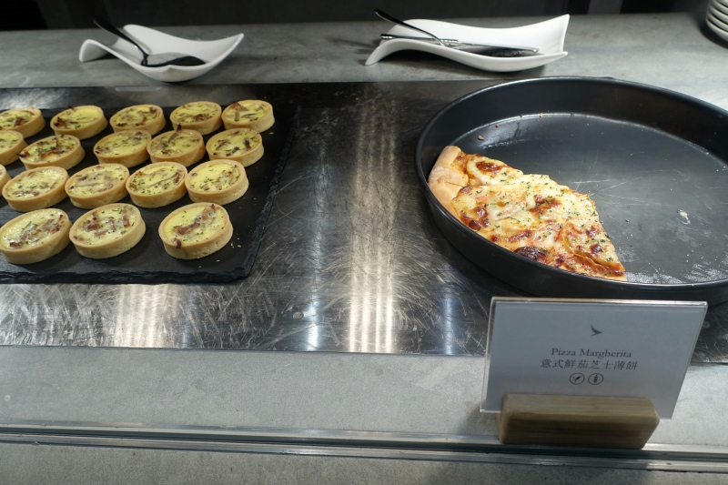 Pizza and Quiches, The Pier Business Class Lounge Review, HKG