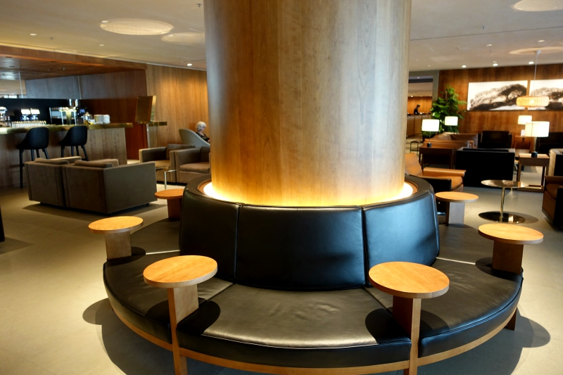 Circular Seating, The Pier Business Class Lounge Review, HKG