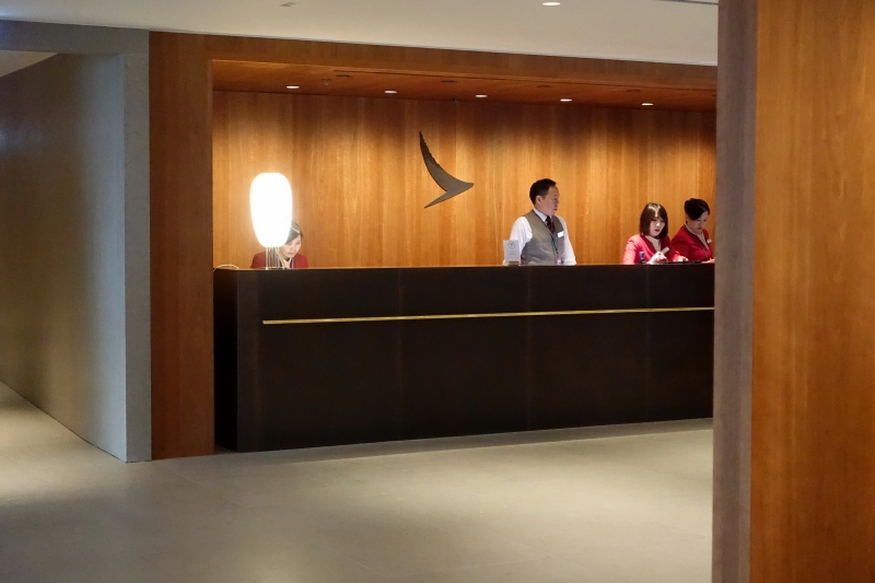 Reception, Cathay The Pier Business Class Lounge Review