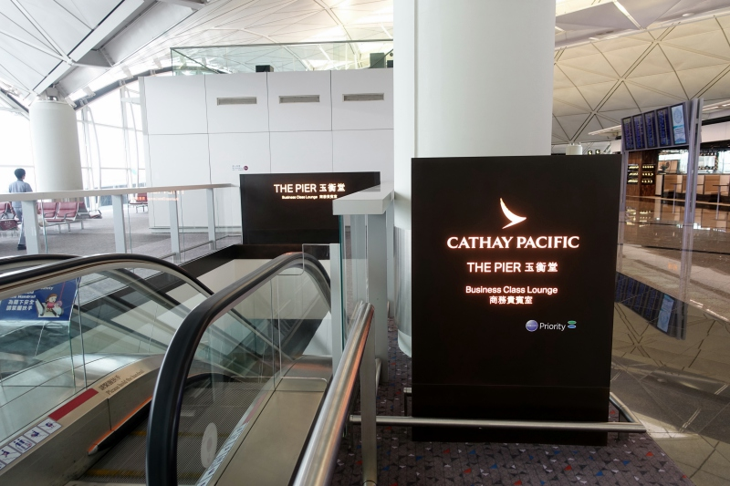 Cathay Pacific The Pier Business Class Lounge Located Near Gate 65