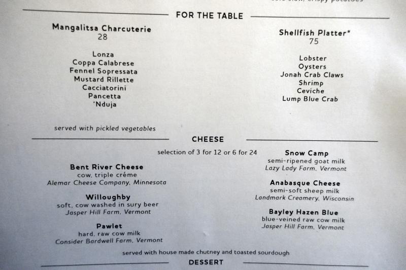 Black Barn NYC Tavern and Bar Menu-Cheeses