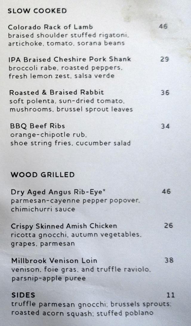 Black Barn Restaurant Menu, NYC